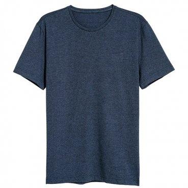 Tričko v-neck modré