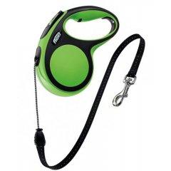 Flexi vodítko pro psy do 20kg, M zelené 8m