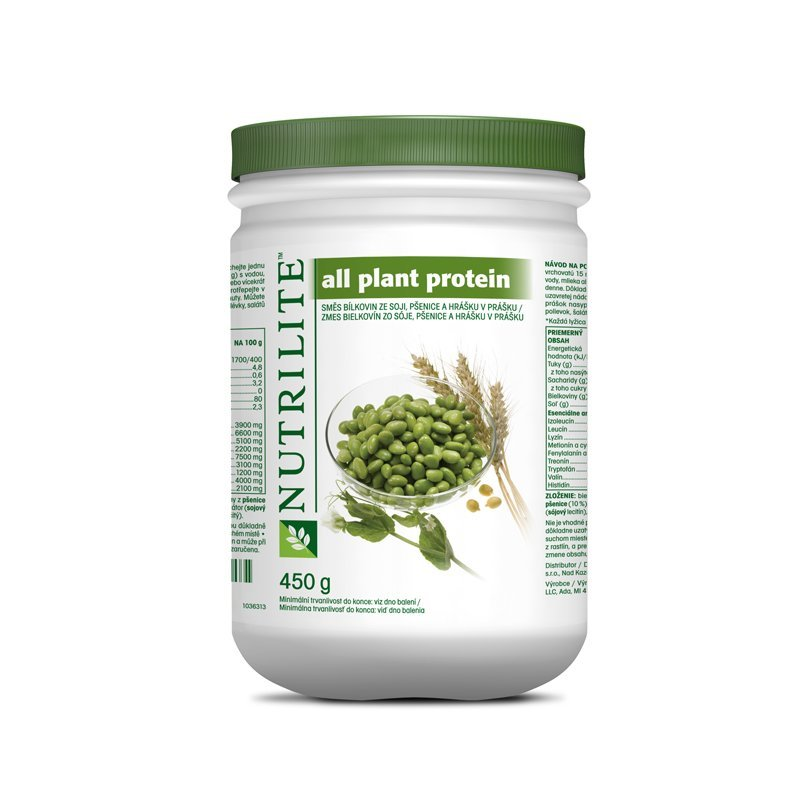 All Plant Protein NUTRILITE™ 450 g - Etiketa do 2017
