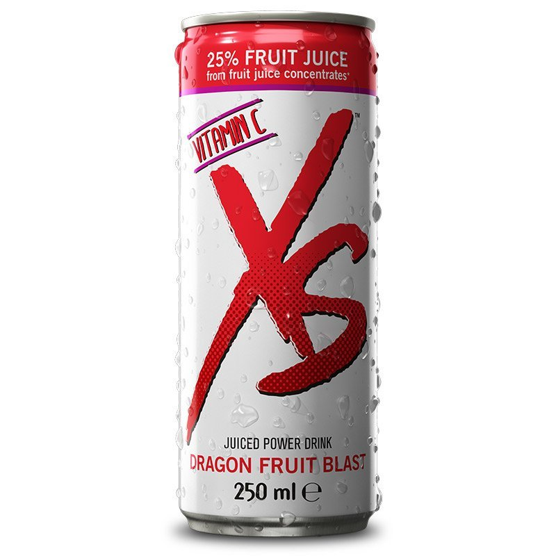 Juiced Power Drink Dragon Fruit Blast – příchuť dračího ovoce XS™ 12 x 250 ml
