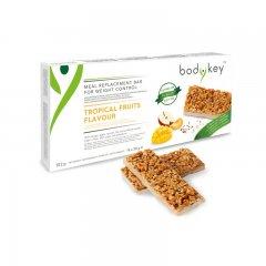 bodykey by NUTRILITE™ TYČINKA – náhrada jídla pro kontrolu hmotnosti TROPICKÉHO OVOCE 14 x 58 g