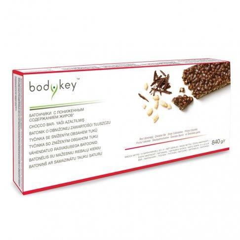 Tyčinka se sníženým obsahem tuků - příchuť čokolády bodykey™ 14 ks