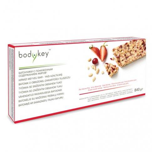 Tyčinka se sníženým obsahem tuků - příchuť červeného ovoce bodykey™ 14 ks