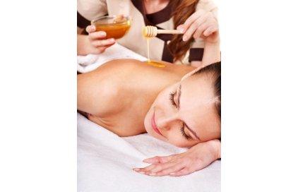 Medová masáž částečná