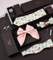 Fialová pletená kravata