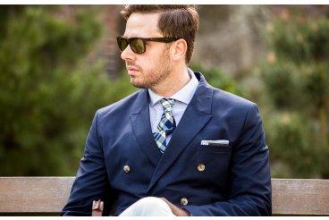 Modrý blazer