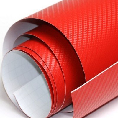 3D karbónová folia červená (š.1,27m)