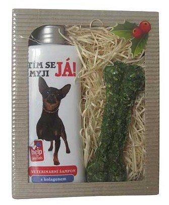 Darčeková kozmetika pre psov Ratlík - šampón + maškrta