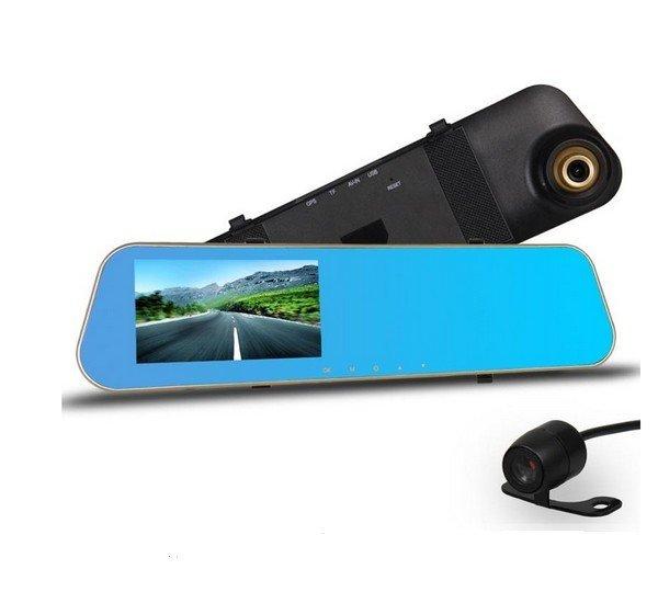 Full HD kamera do auta ve zpětném zrcátku s GPS