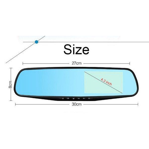 FULL HD kamera ve zpětném zrcátku s LCD displejem + zadní kamera