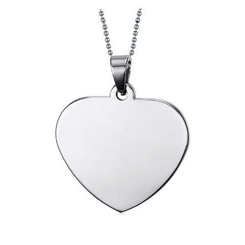 Chrómovaný prívesok s retiazkou srdce  426d2598b58