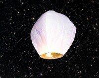 Lampión ŠTĚSTÍ bílý