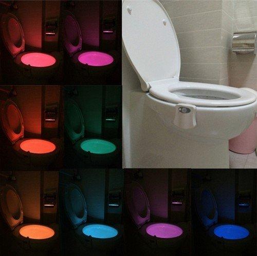 LED noční světlo na WC toaletu s pohybovým čidlem