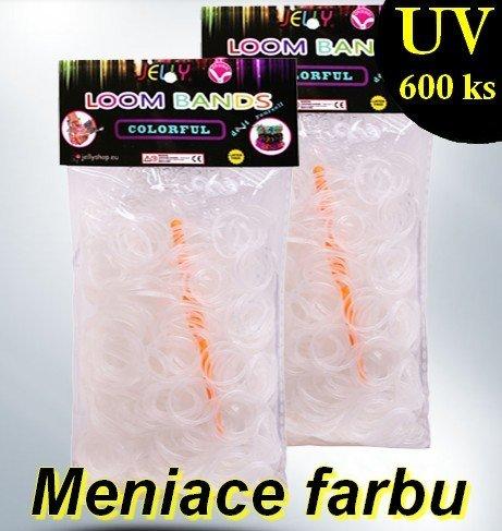 Loom Bands gumičky UV 600 ks (mění barvu)