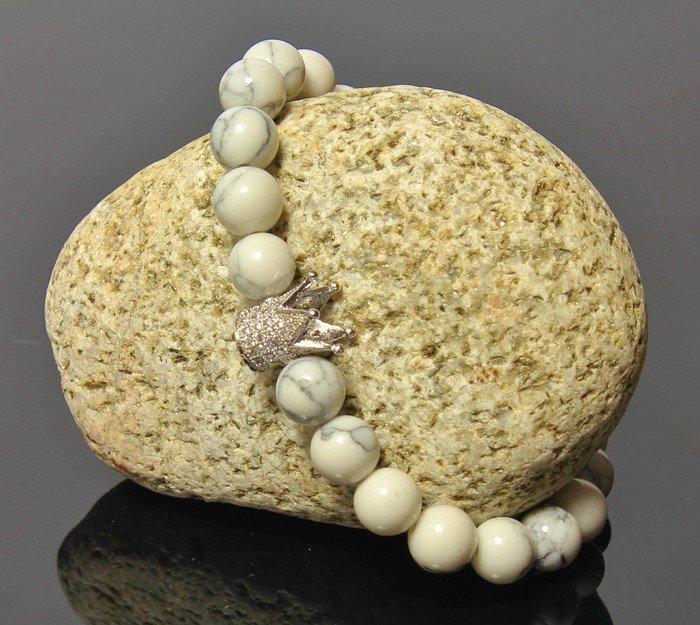 8e7ac4dd947d Náramok s Korunou LK320 prírodný kameň Magnezit