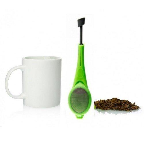 Silikonové sítko s pístem na čaj