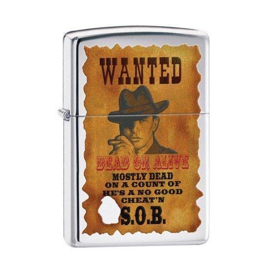 ZIPPO zapaľovač 22862 Wanted Poster