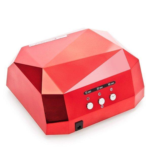 Diamond UV lampa 2v1 UV LED + CCFL 36W lampa DIAMOND 2v1 UV LED + CCFL 36W Červená lampa DIAMOND 2v1 UV LED + CCFL 36W