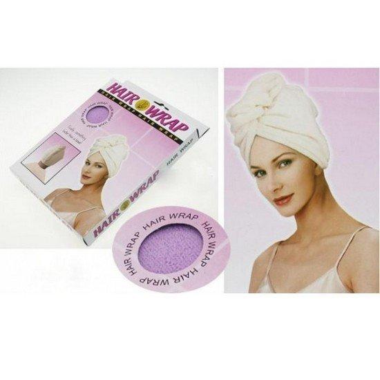 Magický ručník na vlasy mikrovlákno Fialová