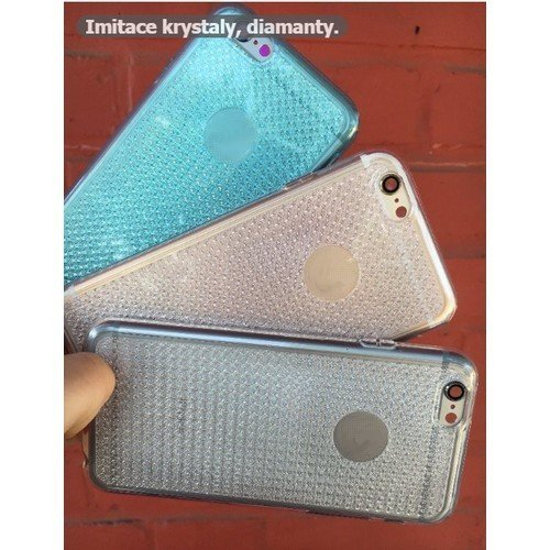 Pouzdro CRYSTAL DIAMOND silikon Samsung Galaxy Core Prime G360 Čirá