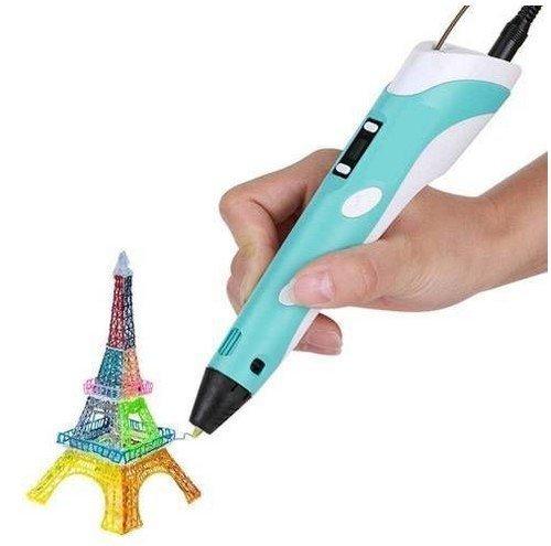 3D pero s LCD displejem a s příslušenstvím Růžové