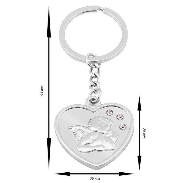 Prívesok kľúčenka srdce Angel  e96ff61757c