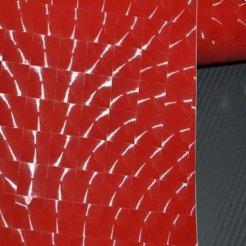 4D karbonová fólie s AIR FREE CAT'S EYE červená (š.1,52m)