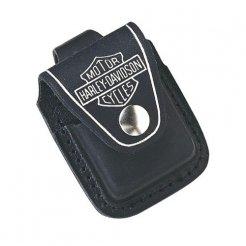Kožené pouzdro 17017 Harley Davidson na zippo zapalovač černé