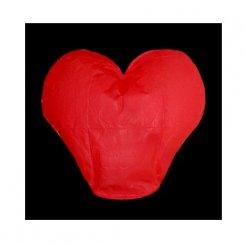 Lampión šťastia Srdce červený 5 ks