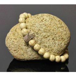Náramok s Korunou LK317 prírodný kameň Jaspis biely