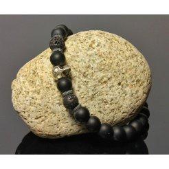 Náramok s Lebkou LK301 lávové kamene