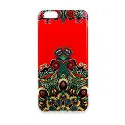 Pouzdro Matex iPhone 6 / 6S červené s kamínky