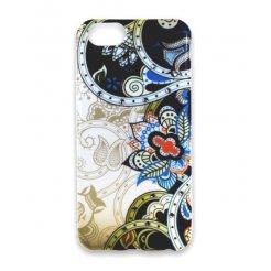 Pouzdro Matex iPhone 6 / 6S modro bílé s kamínky
