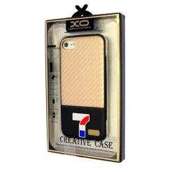 Púzdro Matex iPhone 7 carbon koža zlaté