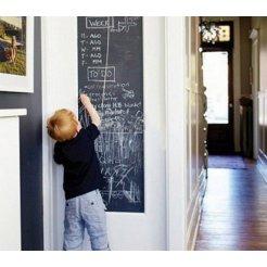 Samolepicí tabule pro děti černá 45x200cm + 5x křída
