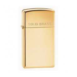 ZIPPO zapaľovač 24067 Solid Brass Slim