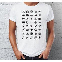 Cestovné tričko s ikonami
