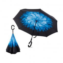 Obrácený deštník Modrý květ