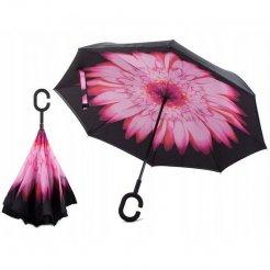 Obrácený deštník Růžový květ
