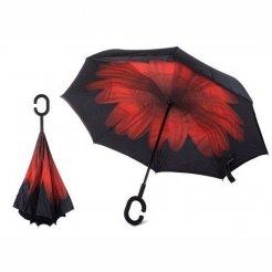 Obrácený deštník Červený květ