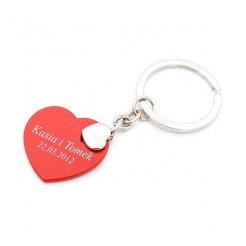 Prívesok na kľúče červené Srdce