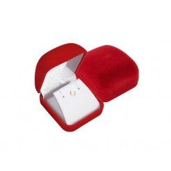 Červená zamatová krabička 53 x 59 mm