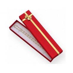 Papierová darčeková krabička červená 210 x 40 mm
