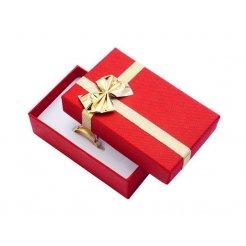 Papírová dárková krabička červená 50 x 80 mm