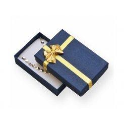 Papírová dárková krabička modrá 50 x 80 mm