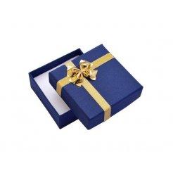 Papírová dárková krabička modrá 80 x 80 mm