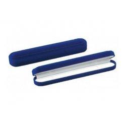 Zamatová krabička na náramok 233 x 43 mm modrá