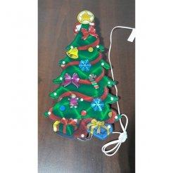 Vianočná multikolor LED dekorácia Stromček 44 x 23 cm