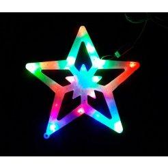 Vianočná multikolor LED dekorácia Hviezda cm 28 cm