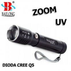 Bailong baterka BL-801-2 Led Q5 CREE Zoom